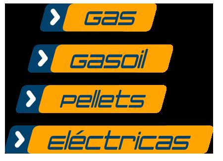 Reparación de calderas de gas, gasoil, eléctricas y de pellets