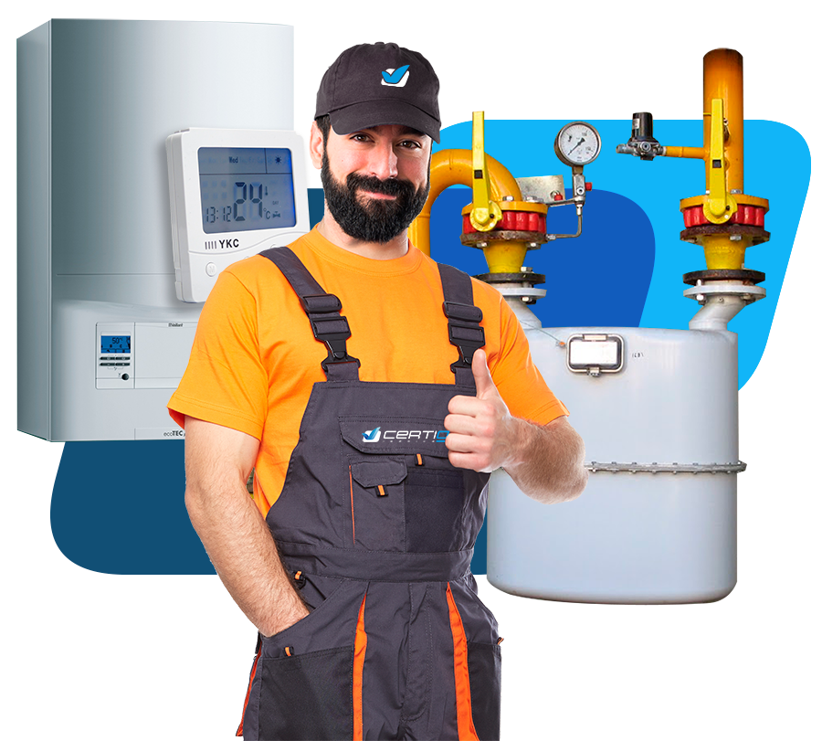 Servicio técnico de certificados de gas natural en Madrid