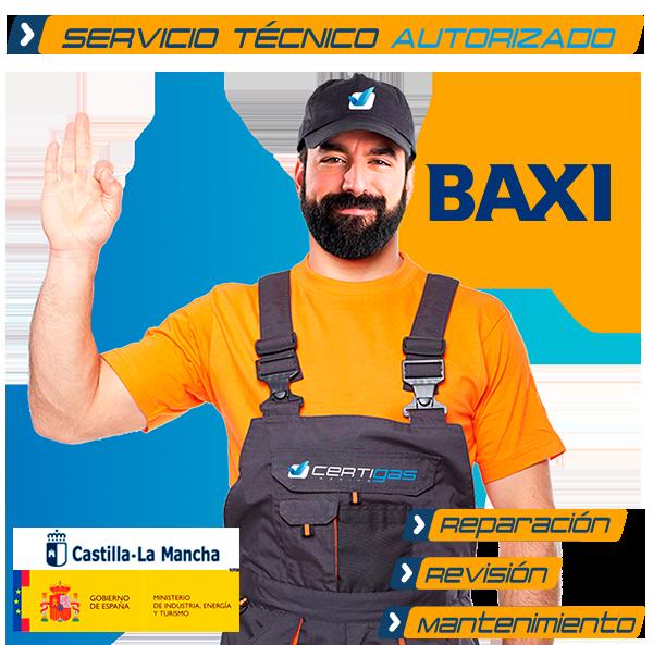 Servicio Técnico Calderas Baxi en Toledo
