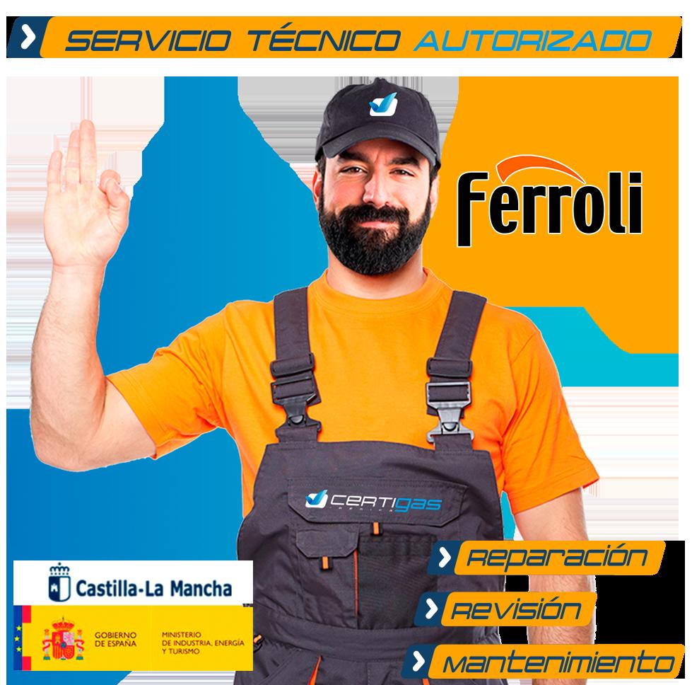 Servicio Técnico Calderas Ferroli en Toledo