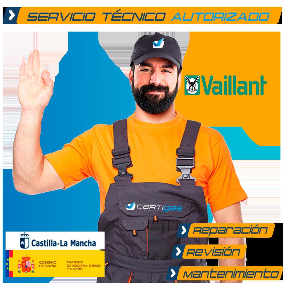 Servicio técnico calderas Vaillant en Toledo