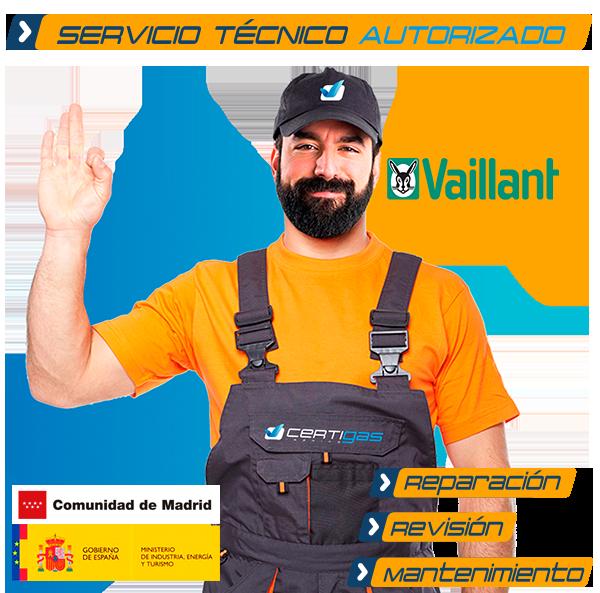 Servicio técnico calderas Vaillant en Madrid