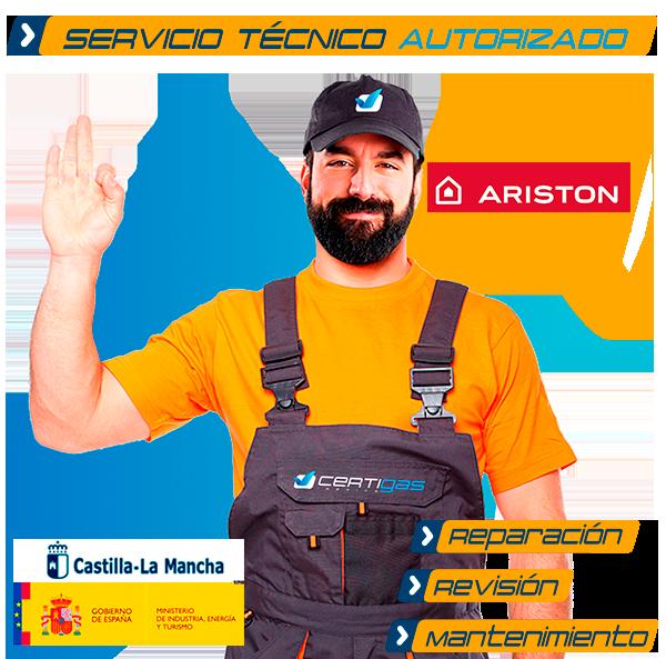 Servicio técnico calderas Ariston en Toledo