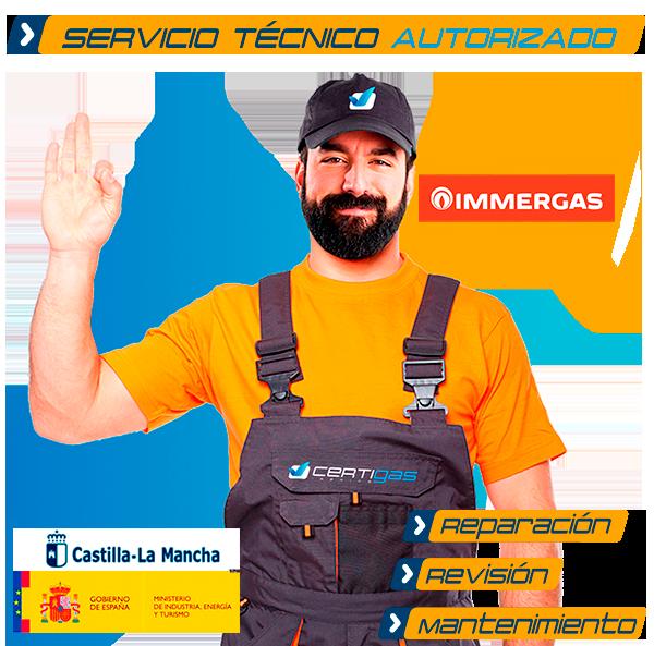 servicio técnico calderas Immergas en Toledo
