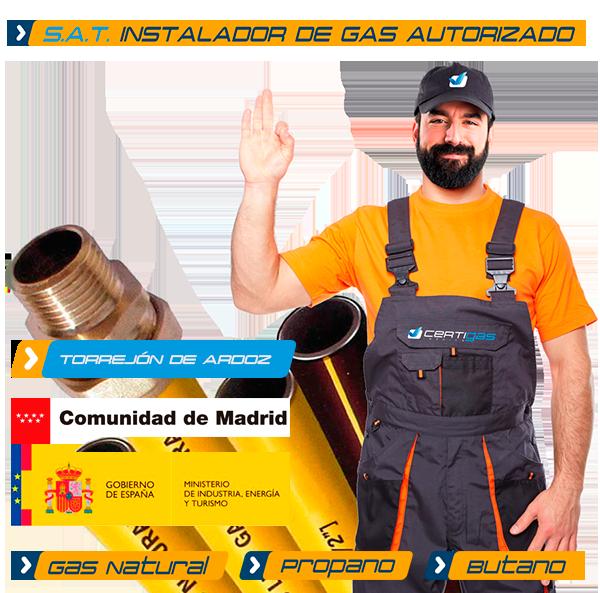 instalador de gas en Torrejón de Ardoz