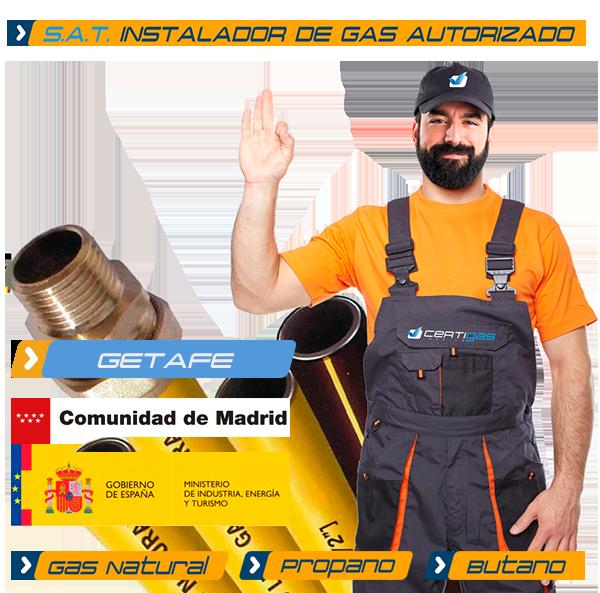 Instalador autorizado de Gas Natural en Getafe