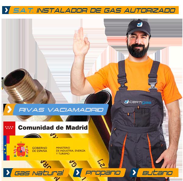 Instalador autorizado de Gas Natural en Rivas Vaciamadrid