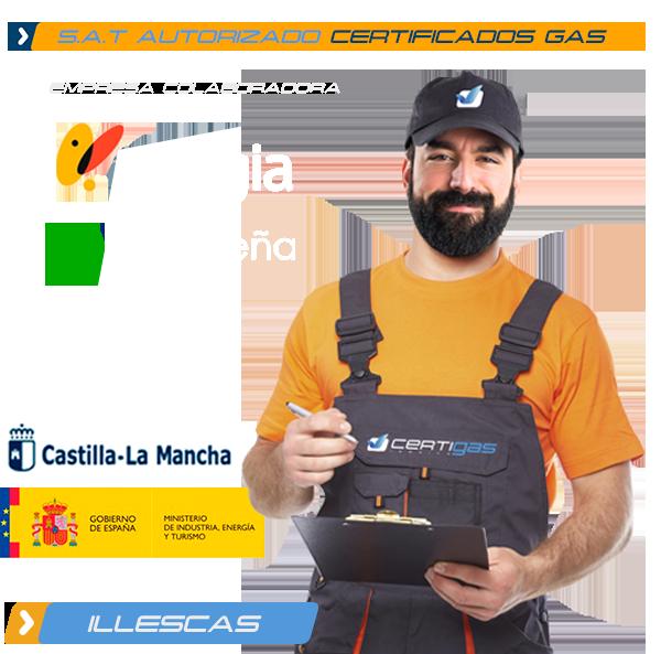 certificado de gas natural en Illescas