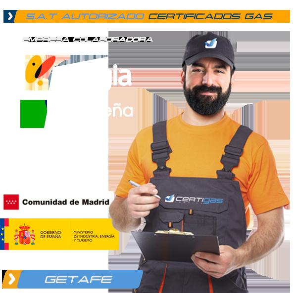 certificado de gas natural en Getafe