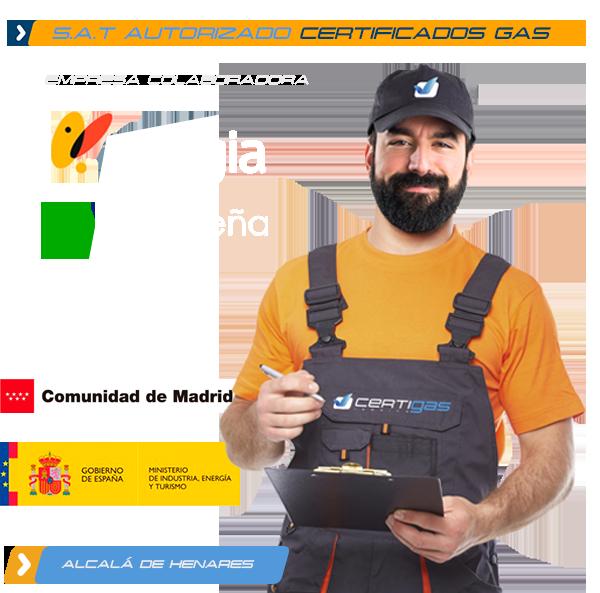 Certificado de Gas Natural en Alcalá de Henares