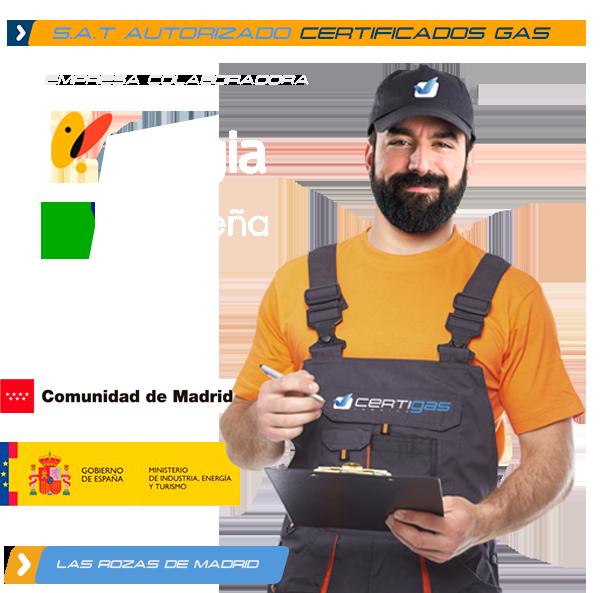 Certificado de Gas Natural en Las Rozas de Madrid